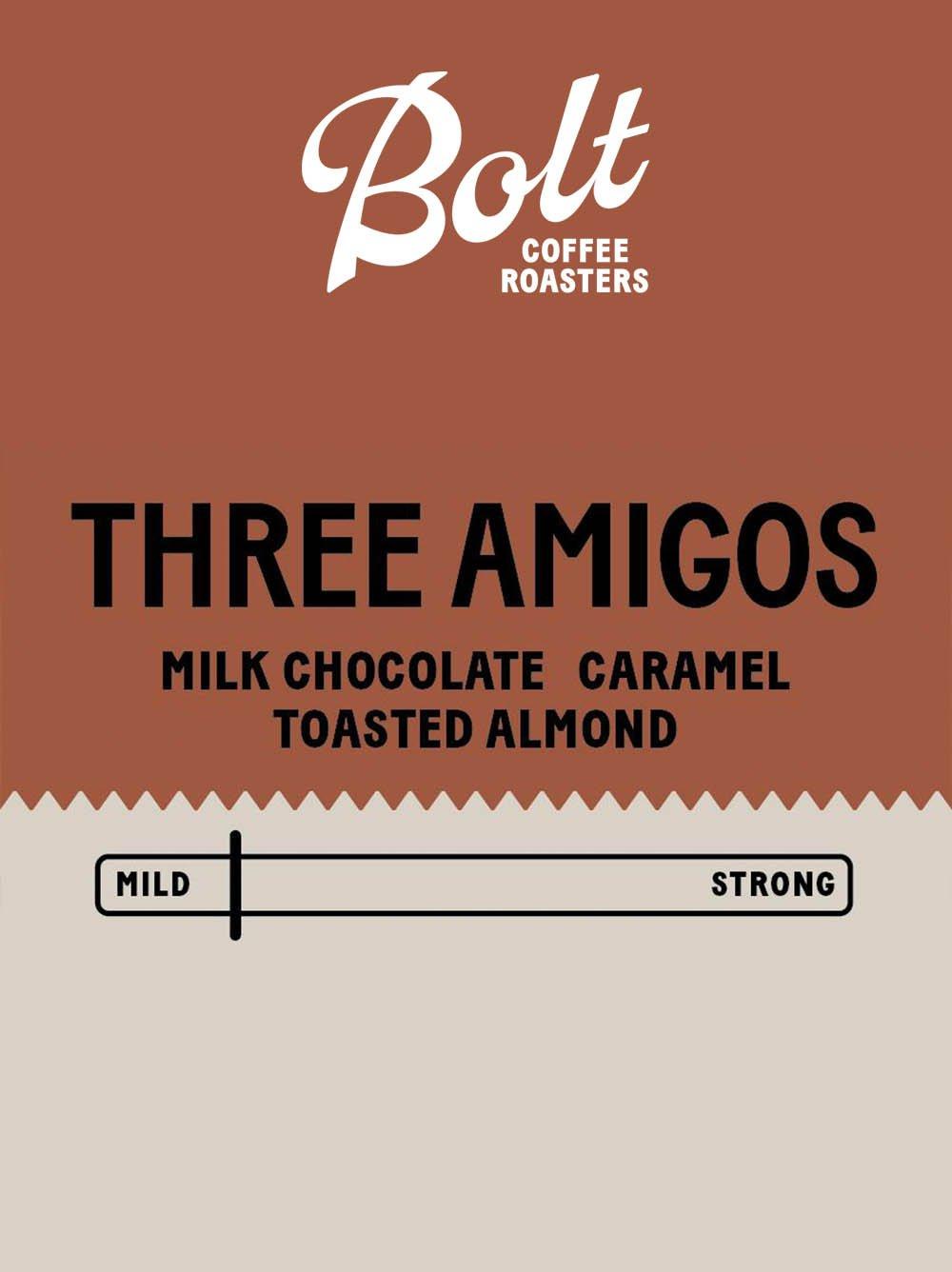 Bolt Coffee Three Amigos